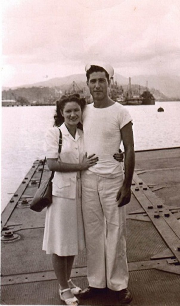 Dad - Mom - Subic Bay, Philippines - 1948 Final