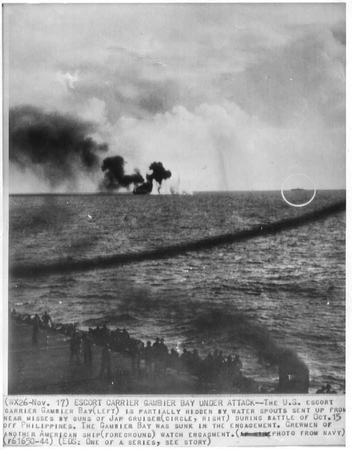 Gambier Bay - Under Attack